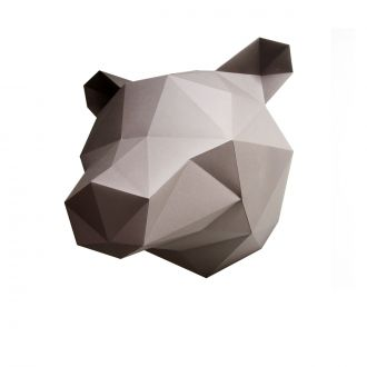 Origami Trophy - Bear - Brown