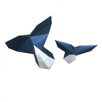 Origami Whale Tail Trophy