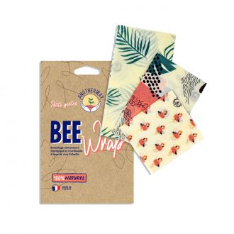 Set de 3 emballages cire d'abeille Tropical S-M-L
