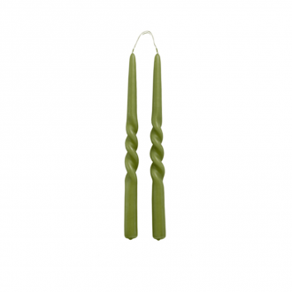 Set de 2 Bougies Twist Olive