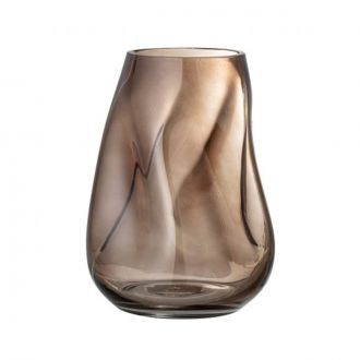 Vase en verre Curved Marron