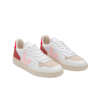 Baskets V10 Extra Blanc Rose Fluo