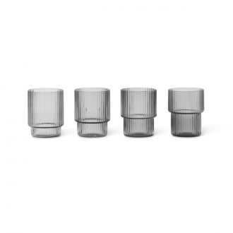 Set de 4 Verres Shot Ripple Smoke