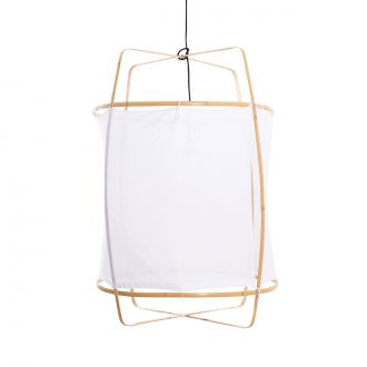 Suspension Z2 Blonde Coton blanc / Bambou