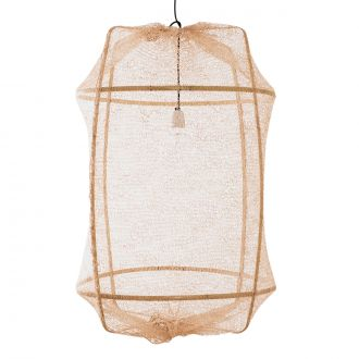 Suspension Z2 Blonde Sisal Filet / Bambou